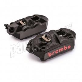 Pack 2 étriers de frein M4 radiaux monobloc entraxe 108 mm BREMBO version noir anodisé