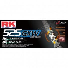 Chaine RK 525GXW XW'Ring Ultra renforcée acier