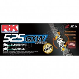 Chaine RK 525GXW XW'Ring Ultra renforcée or ou couleur
