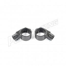 Bracelets 10° diamètre 47 mm avec décalage +20 mm pour demi guidons LIGHTECH