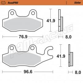 Plaquettes de frein arrière RoadPRO Sinter route Moto-Master CAGIVA, KAWASAKI, DR800, TRIUMPH