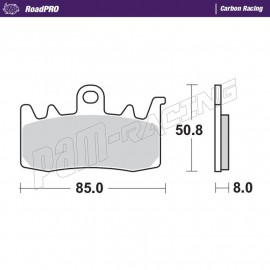 Plaquettes de frein avant RoadPRO Carbone Racing S1000XR, BMW, APRILIA, DUCATI,...