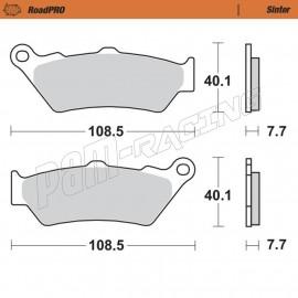 Plaquettes de frein arrière RoadPRO Sinter route Moto-Master