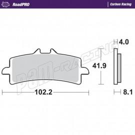 Plaquettes de frein avant RoadPRO Carbone Racing Moto-Master