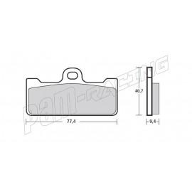 Plaquettes de frein avant Brembo Z04 Type O Vitesse pour étrier GP4-RR, P4 32/36