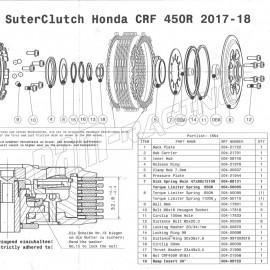 Pièce de rechange pour embrayage anti-dribble SUTER CRF 450 2017-2018