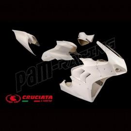 Carénage racing complet fibre de verre CRUCIATA Panigale V4R 2019-2021, Panigale V4S 2020-2021