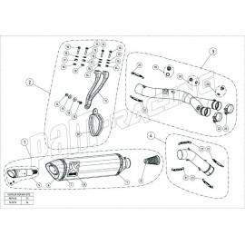 Pièce de rechange pour demi-ligne Trackday Akrapovic R1 2015-2021-Kit laine de verre, réparation silencieux, etc..
