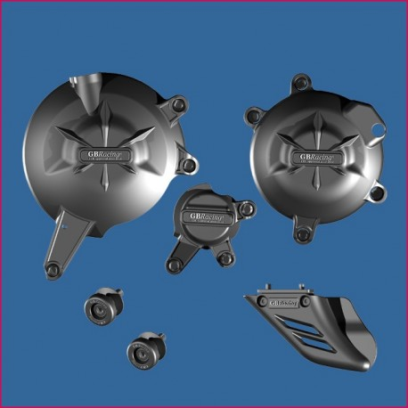 Kit de 5 protections GB Racing ER6f, ER6n 2006-2016, Versys 650 2007-2020